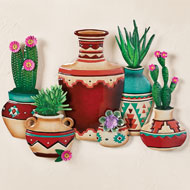Southwest Pottery, Cacti and Succulents Wall Art