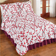 Allison Cherry Blossom Textured Quilt - 45987