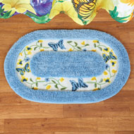 Blue and Yellow Butterfly Gardens Tufted Bath Mat - 46245