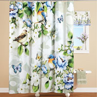 Birds and Magnolia Shower Curtain - 46246