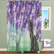 Lilac Wisteria Tree Shower Curtain - 46248
