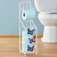 Butterfly Toilet Paper Holder with Scroll Design - 46251