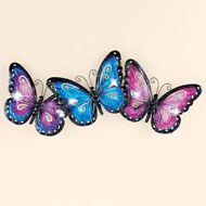 Lovely Butterfly Wall Art with Sparkling Jewel - 46252