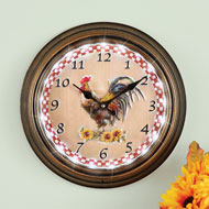 Lighted Rooster Wall Clock with Remote Control - 46264