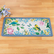 Colorful Botanical Birds Braided Runner - 46271