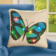 Unique Butterfly Lighted Pillow Cover - 46290