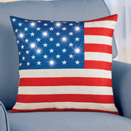 Lighted American Flag Pillow Cover - 46293