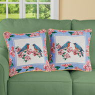 Bird and Floral Tapestry Pillow Covers - Set of 2 - 46300