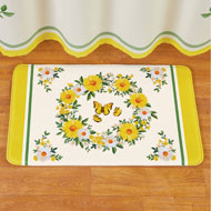Daisy Wreath and Butterfly Skid-Resistant Bath Mat - 46302