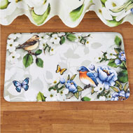 Birds and Magnolia Bath Mat - 46306