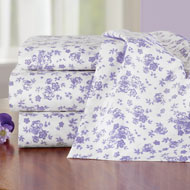 Lavender Floral Sheet Set with Extra Pillowcases - 46311