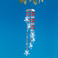 Solar Sparkling Patriotic Star Wind Dangler - 46360