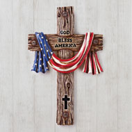 God Bless America Hand-Painted Cross - 46379