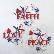 Americana Inspirational Wall Art - Set of 3 - 46382