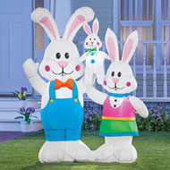 Inflatable Happy Bunny Family Yard Decoration - 46405