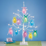 Lighted Sparkling Easter Egg Tabletop Tree - 46406