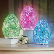 Lighted Sparkling Pastel Mosaic Eggs - 46411