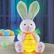 Fiber Optic Easter Bunny Plush Decoration - 46415