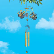 Gold-tone Bicycle Metal Wind Chime - 46428