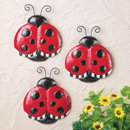 Cute Ladybug Wall Decor - Set of 3 - 46448