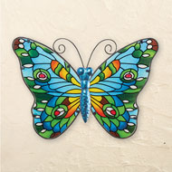 Colorful Glass Mosaic Butterfly Wall Art - 46451