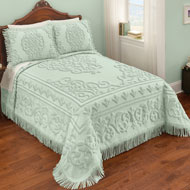 Sarah Chenille Bedspread with Scroll Medallion Design - 46454