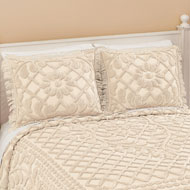 Vine Leaf Lattice Tufted Chenille Pillow Sham - 46457
