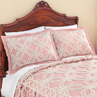 Allison Chenille Tufted Trellis Pattern Pillow Sham - 46459