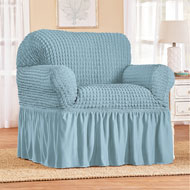 Classic Textured Ruffle Stretch Slipcover - 46465