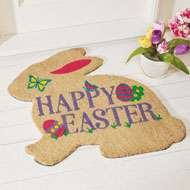 Colorful Easter Bunny Shaped Coco Mat - 46469