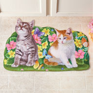 Colorful Spring Cat Cutout Mat - 46471