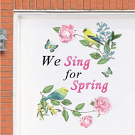 Spring Song Birds Garage Door Magnet - 46480