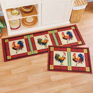 French Country Rooster Accent Rug - 46489