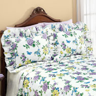 Spring Floral Butterfly Plisse Pillow Shams - 46501