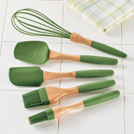 Green Silicone Kitchen Cooking Utensils - Set of 5 - 46522