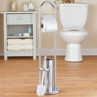 Stainless Steel Toilet Paper and Brush Holder - 46532