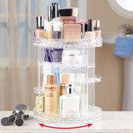 Adjustable Acrylic Rotating Cosmetic Organizer - 46537
