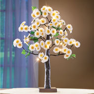 Lighted Daisy Tabletop Tree with Adjustable Branches