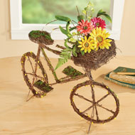 Twig Style Floral Bicycle Tabletop Decoration - 46579