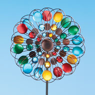 Multicolor Sparkling Double Spinner Yard Stake - 46608