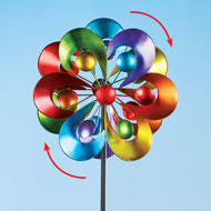 Colorful Double Spinner Yard Stake - 46610