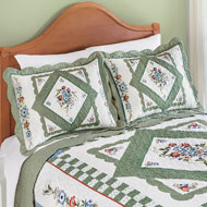 Hummingbird Floral Diamond Pillow Sham - 46614