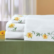 Daisy Embroidered Sheets Set - 46615
