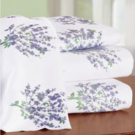 Lovely Lavender Floral Bouquet Sheet Set - 46616