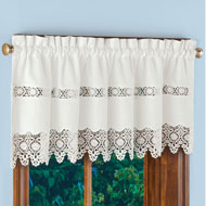 Cynthia Embroidered Lace Window Valance - 46619