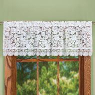 Floral Lace Cutout Window Valance - 46620