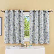 Grommet Top Woven Leaf Pattern Short Curtain Panel - 46640