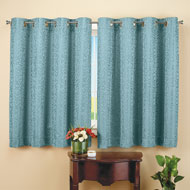 Insulated Scroll Pattern Short Curtain Panel
