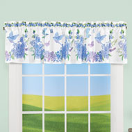 Bird Floral Wreath Window Valance - 46650