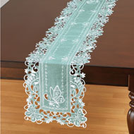 Organza Embroidered Butterfly Table Linens - 46656